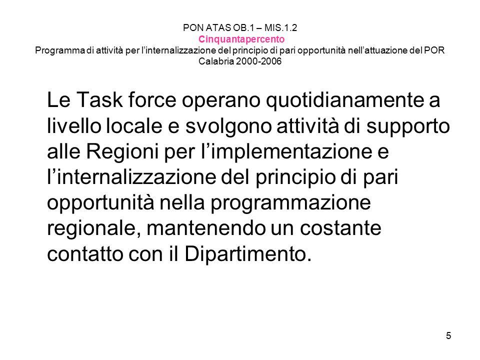 6 COSA FA la Task Force Pari Opportunità?
