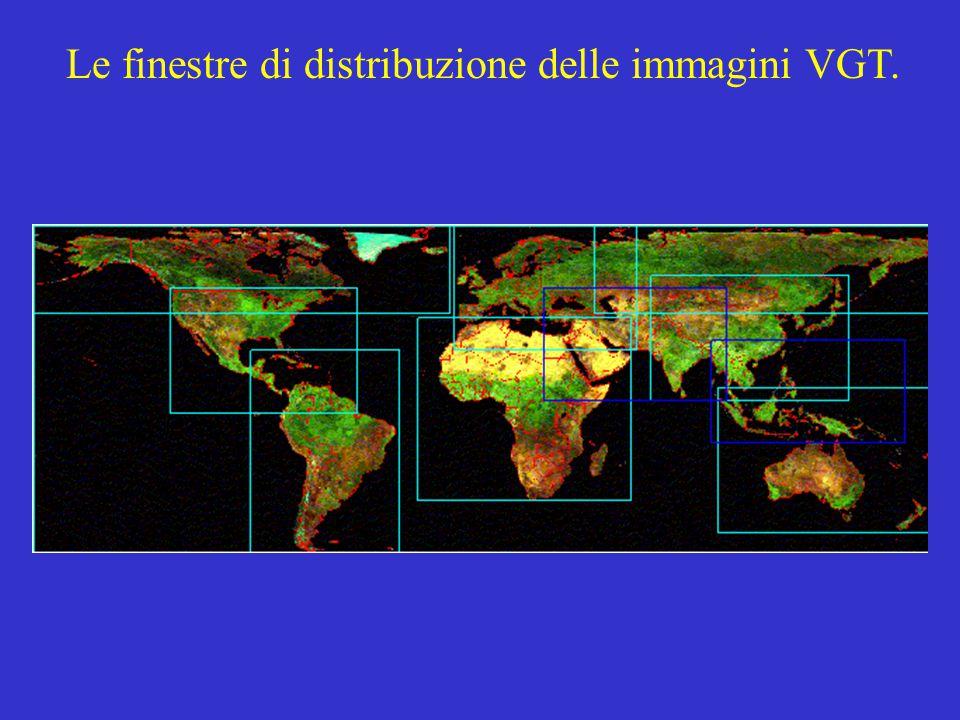 Le finestre di distribuzione delle immagini VGT.