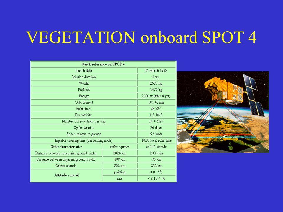 VEGETATION onboard SPOT 4