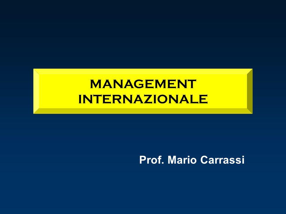MANAGEMENT INTERNAZIONALE Prof. Mario Carrassi