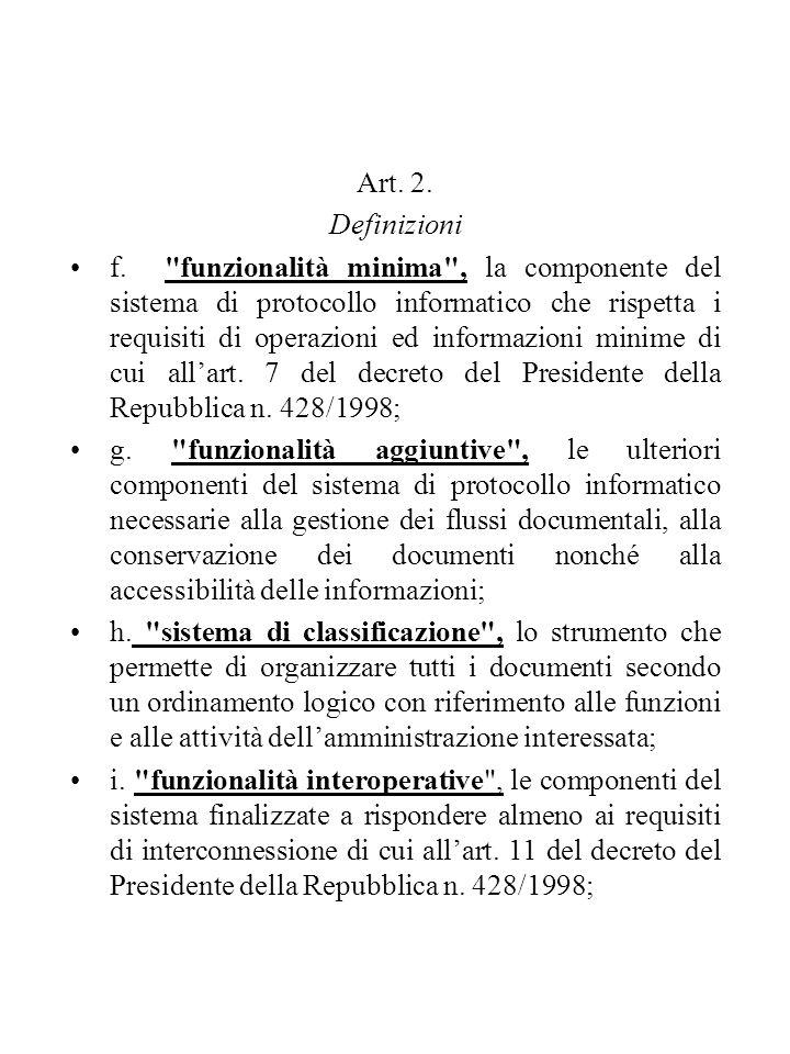 Art.17. Impronta del documento informatico 1.