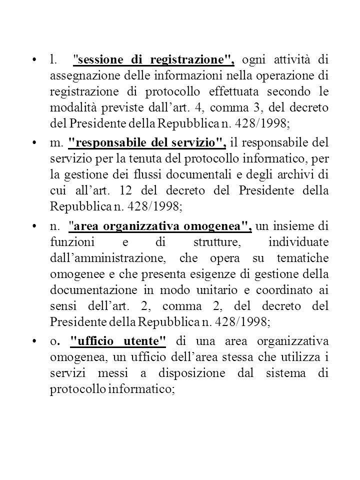 Art.11. Indice delle amministrazioni pubbliche e delle aree organizzative omogenee 1.