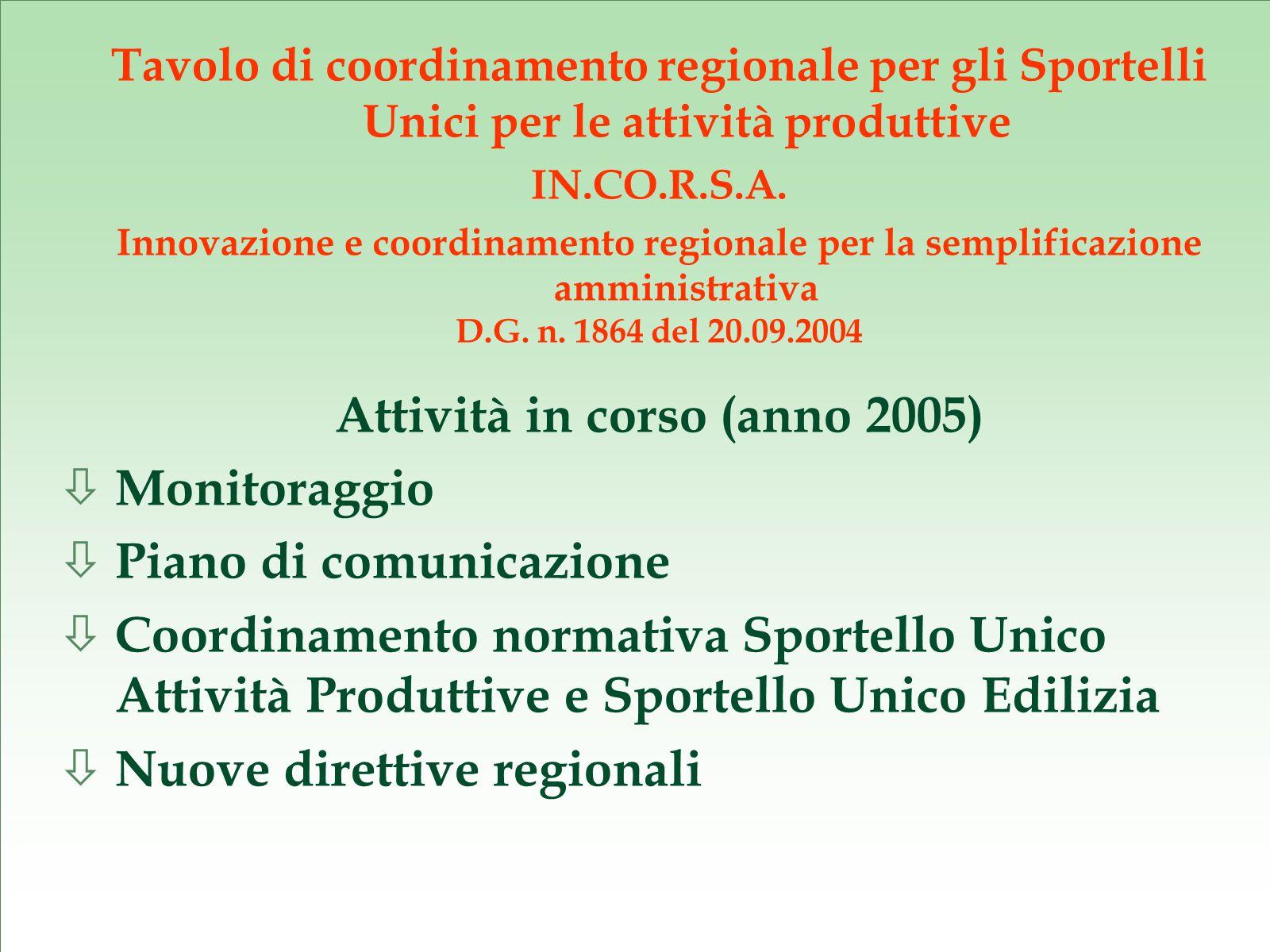 Proposta di semplificazione amministrativa Coordinamento normativa Sportello Unico Attività Produttive e Sportello Unico Edilizia - Parere integrato ASL e ARPA ex art.