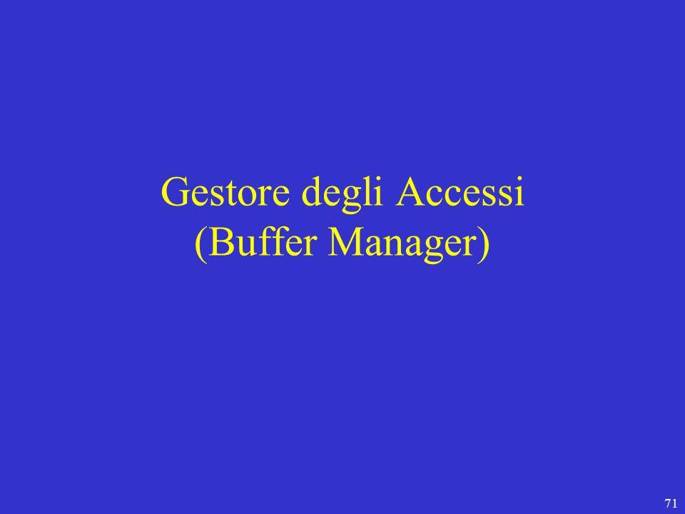 71 Gestore degli Accessi (Buffer Manager)