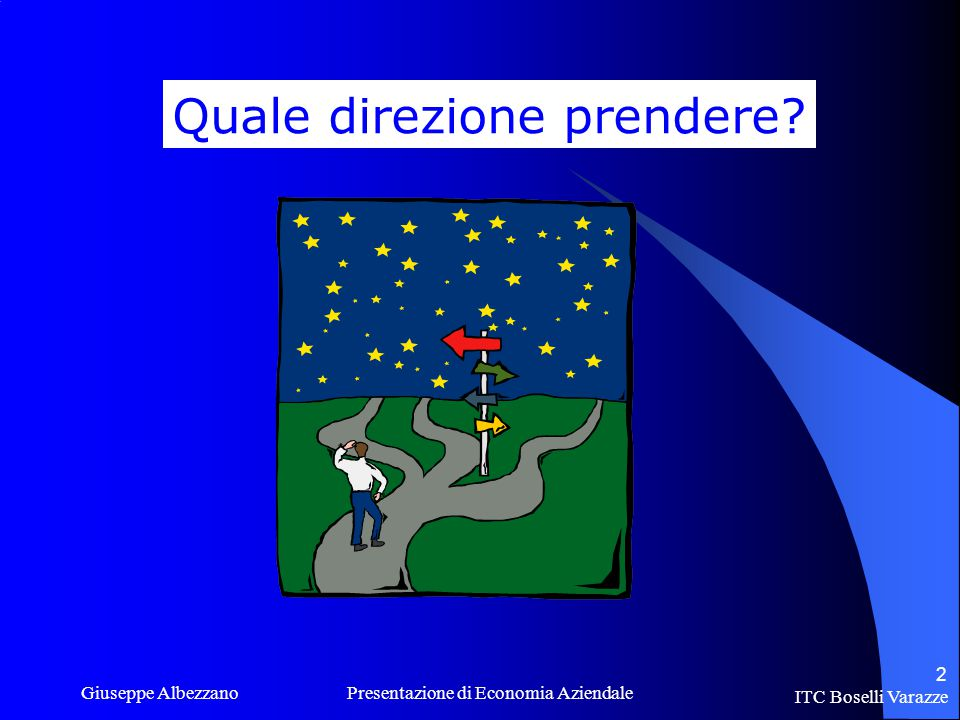 ITC Boselli Varazze Giuseppe Albezzano Presentazione di Economia Aziendale 2 Quale direzione prendere?