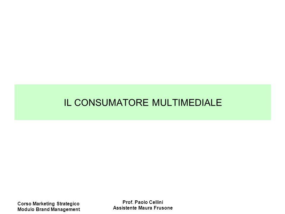 Corso Marketing Strategico Modulo Brand Management Prof. Paolo Cellini Assistente Maura Frusone IL CONSUMATORE MULTIMEDIALE