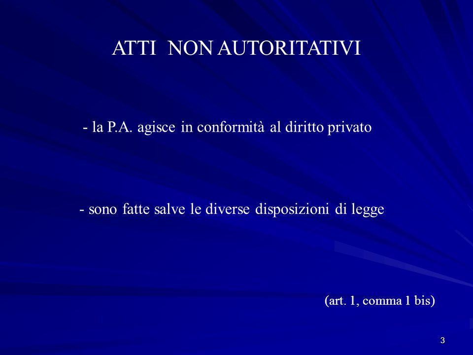 3 ATTI NON AUTORITATIVI - la P.A.