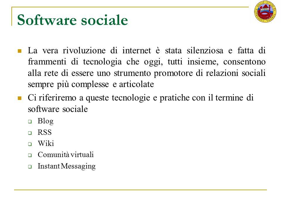 Software sociale La vera rivoluzione di internet è stata silenziosa e fatta di frammenti di tecnologia che oggi, tutti insieme, consentono alla rete d
