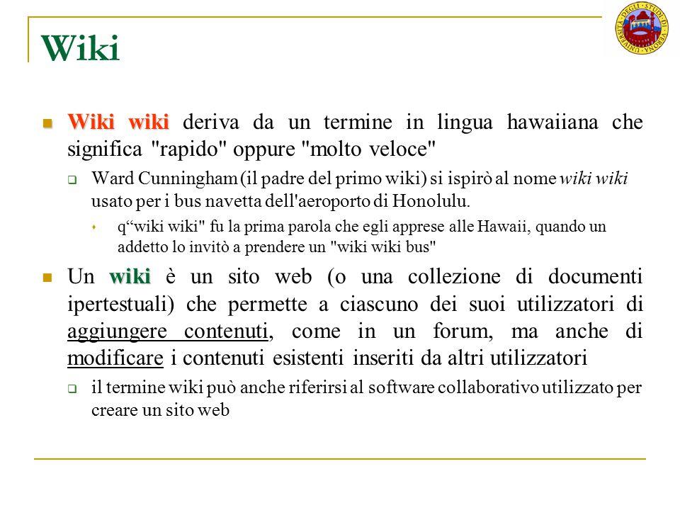 Wiki Wiki wiki Wiki wiki deriva da un termine in lingua hawaiiana che significa