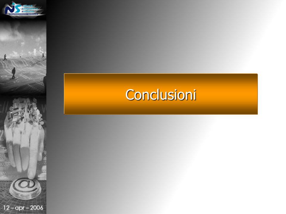 12 – apr – 2006 Conclusioni