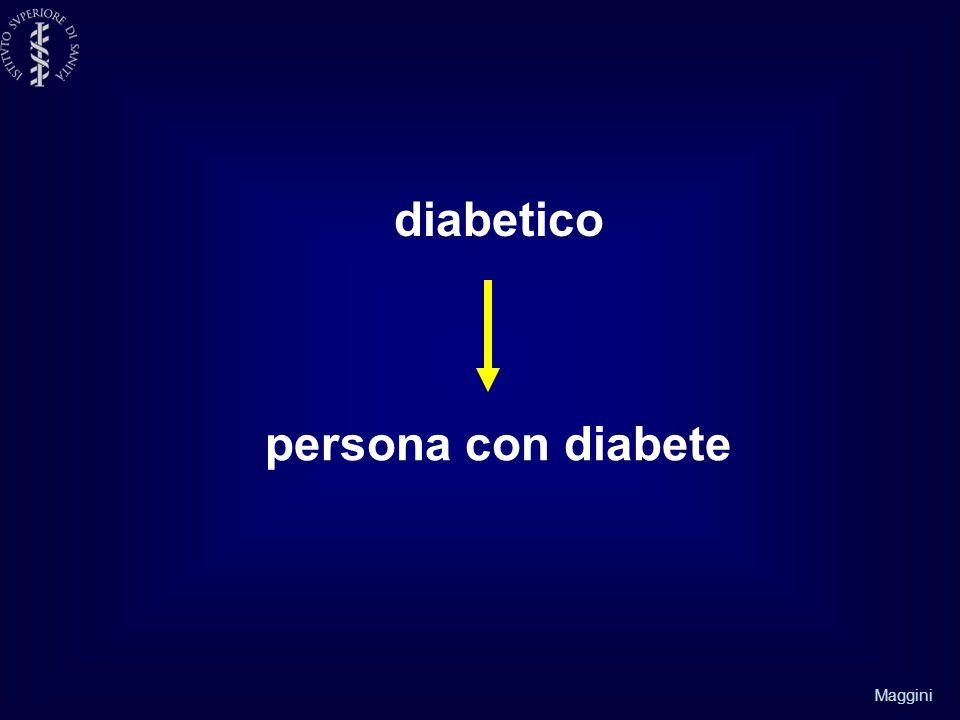 Maggini diabetico persona con diabete