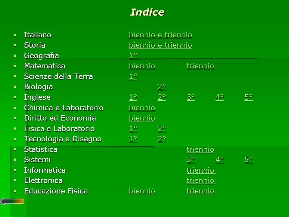 ITALIANO ITALIANOBiennio  Aver acquisito un adeguato metodo di studio.
