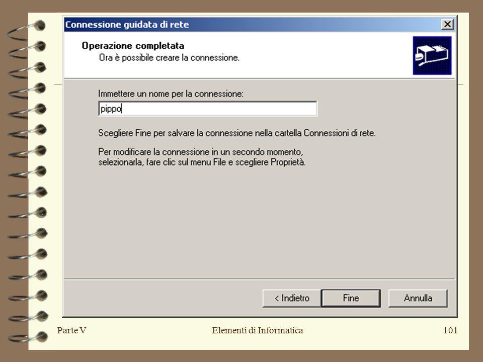 Parte VElementi di Informatica101
