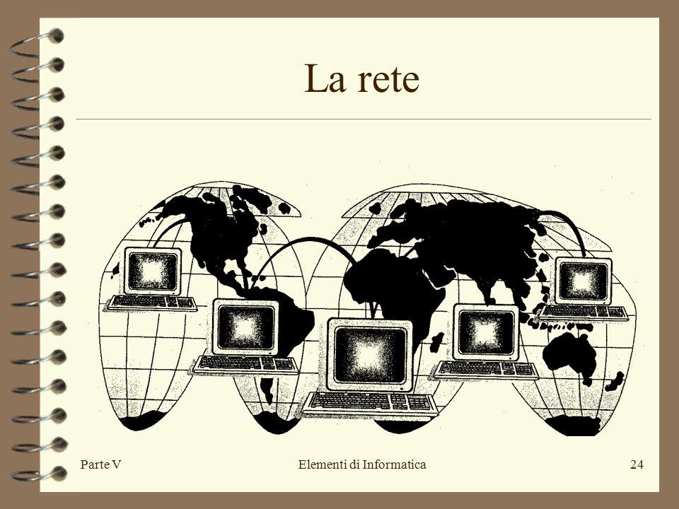 Parte VElementi di Informatica24 La rete