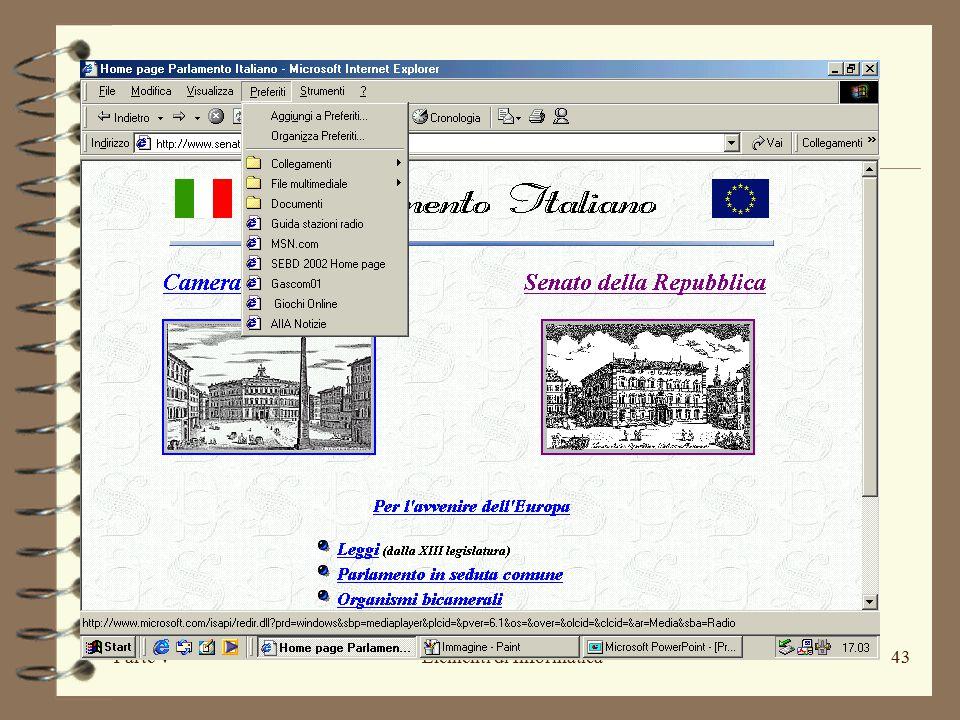 Parte VElementi di Informatica43