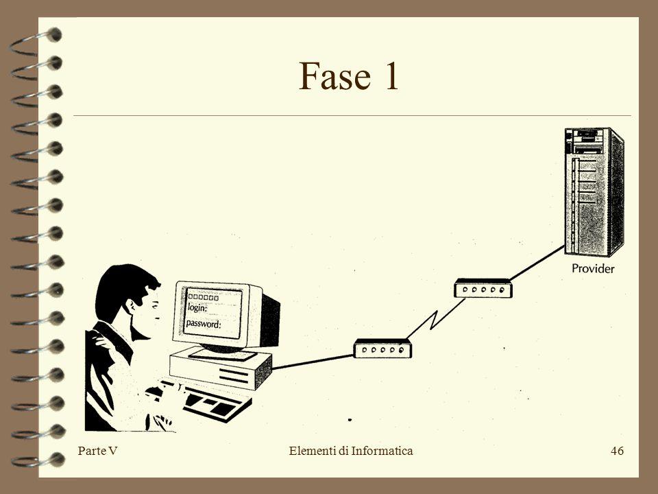 Parte VElementi di Informatica46 Fase 1