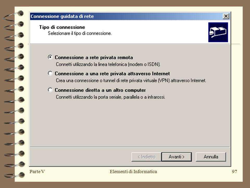 Parte VElementi di Informatica97
