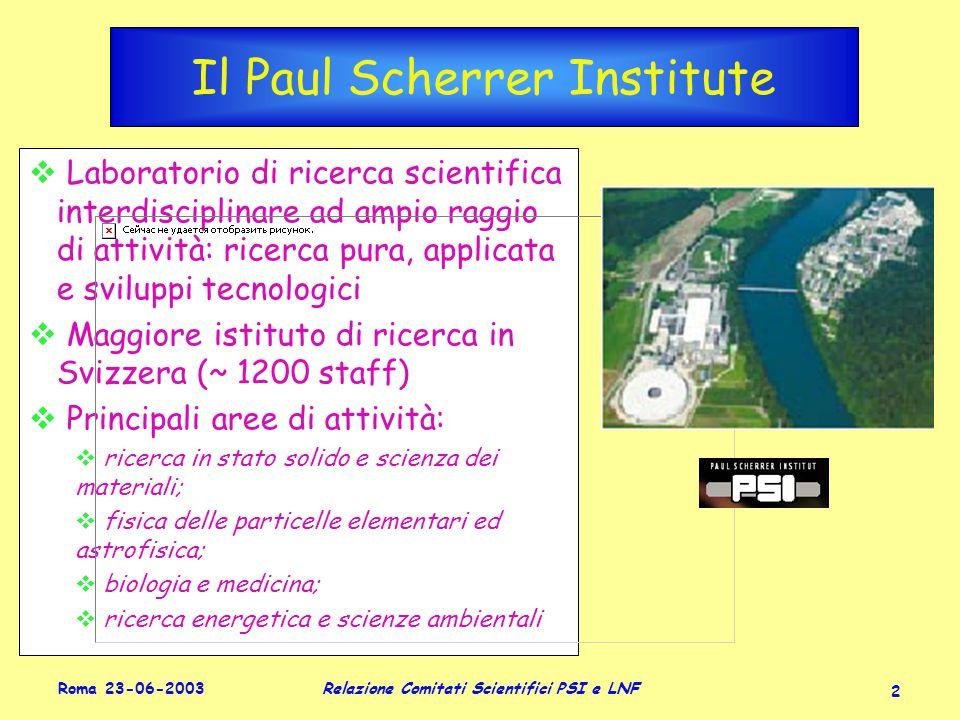 Roma 23-06-2003 Relazione Comitati Scientifici PSI e LNF 23 KLOE: misura di V us Introdotto nel 1963, noto al 1.5%: |V us | = 0.2196 ± 0.0019 exp ± 0.0018 th Per decadimenti K e3 : expth Con ~ 400 pb -1 e ~1-3  10 6 decadimenti K l3 carichi e neutri, efficienze incluse, si ha: dati K e3 in KLOE (~ 400 pb -1 ) |V us ||f + (0)| ±± tutti i branching ratio << 10 -2 PDG2002