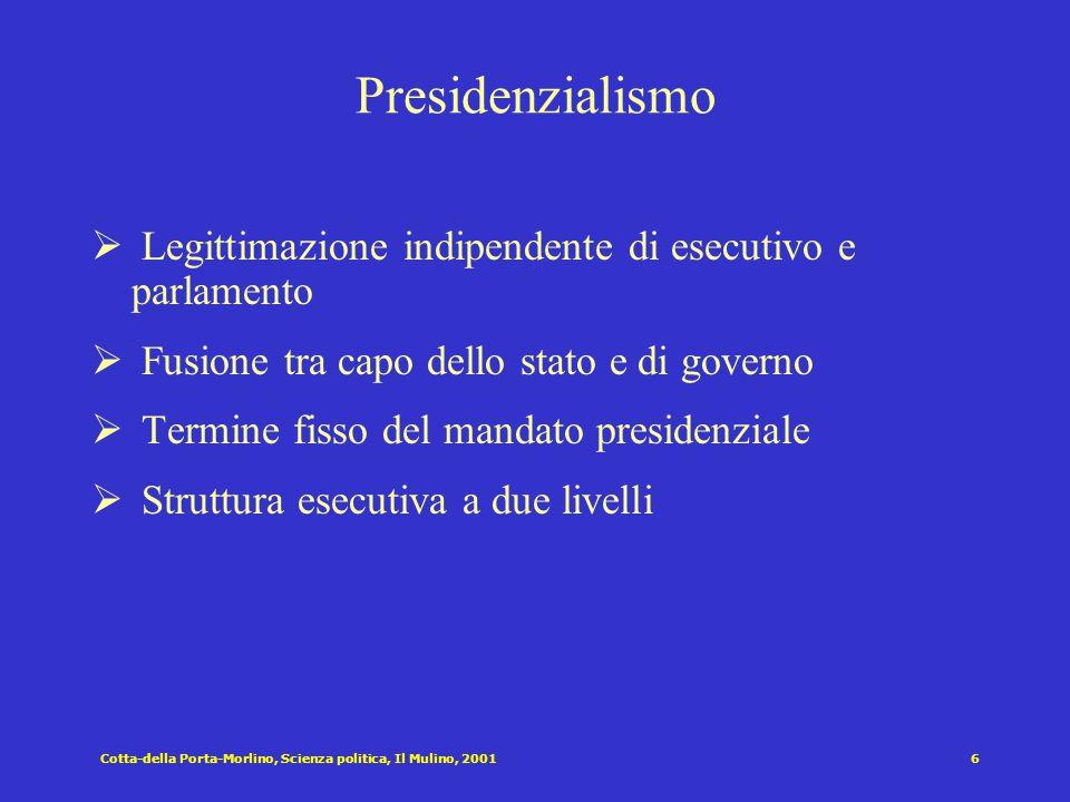 Forme di governo parlamentari e presidenziali Presidenzialismo Governo del premier cancellierato Parlamentarismo Esecutivo collegiale ad elezione dire