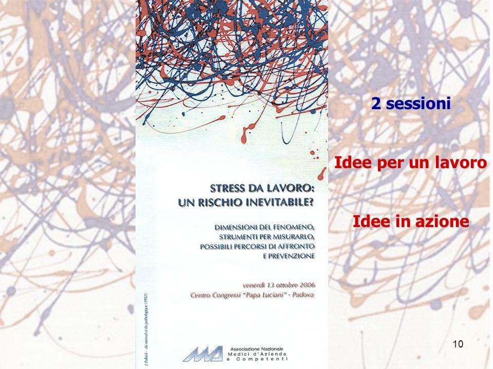 10 2 sessioni Idee per un lavoro Idee in azione