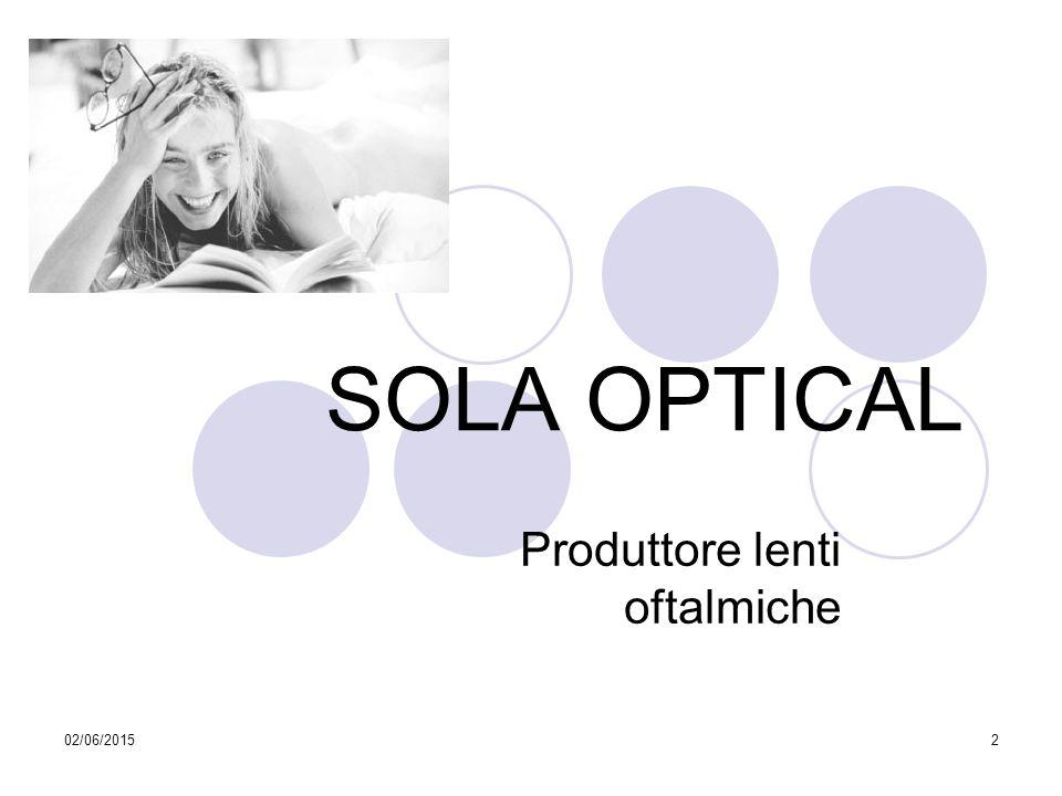 02/06/20152 SOLA OPTICAL Produttore lenti oftalmiche