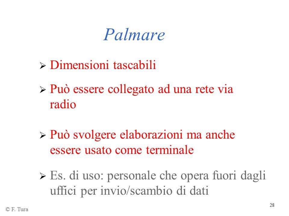 28 Palmare  Dimensioni tascabili  Può essere collegato ad una rete via radio  Es. di uso: personale che opera fuori dagli uffici per invio/scambio