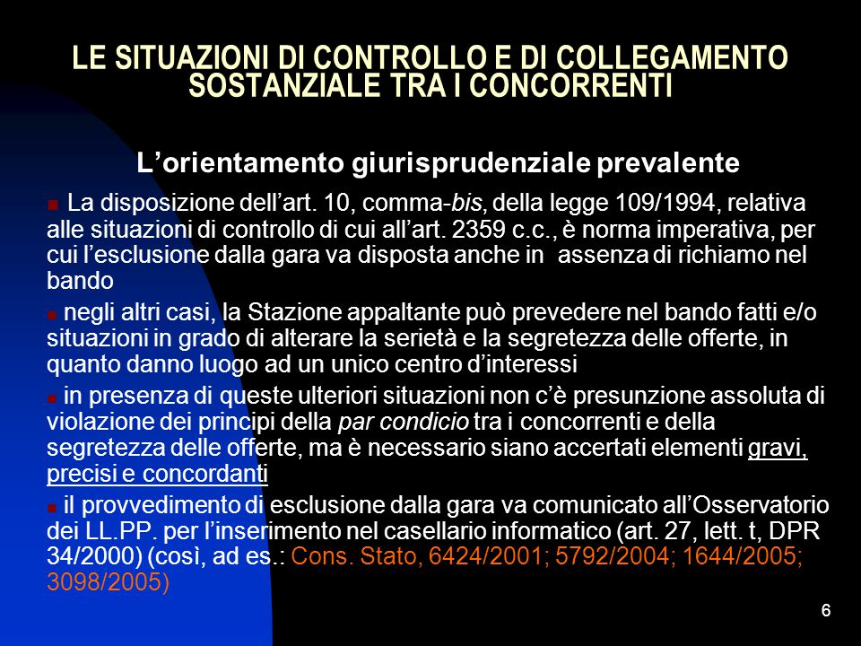 97 L'AVVALIMENTO GARA PER GARA NEL CODICE (art.49) 7.