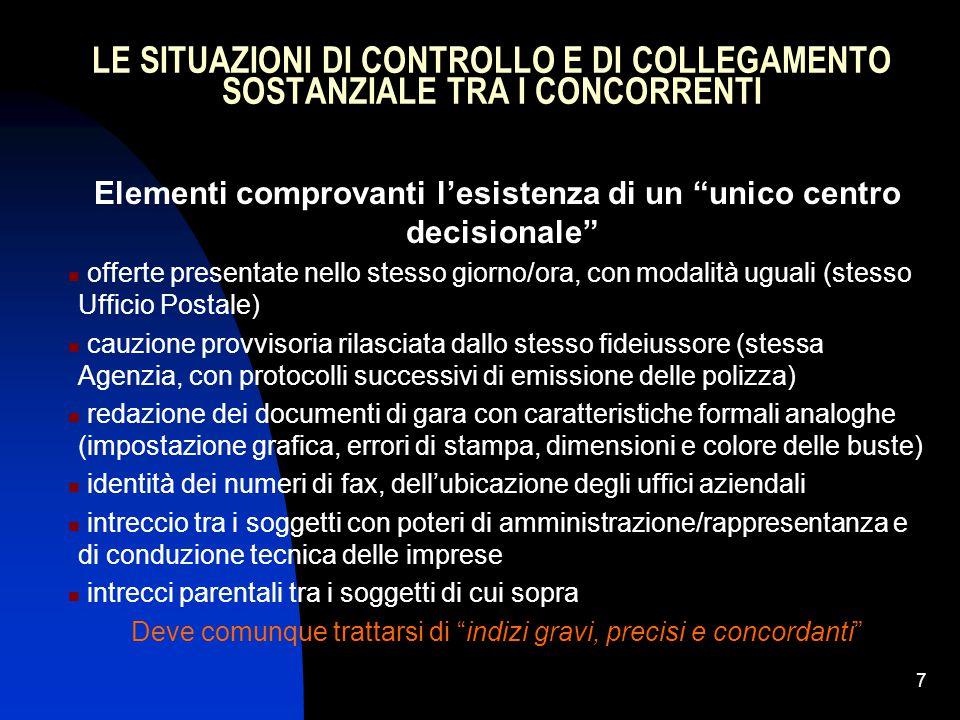 18 I SOGGETTI AFFIDATARI DEI CONTRATTI PUBBLICI SECONDO IL CODICE (D.