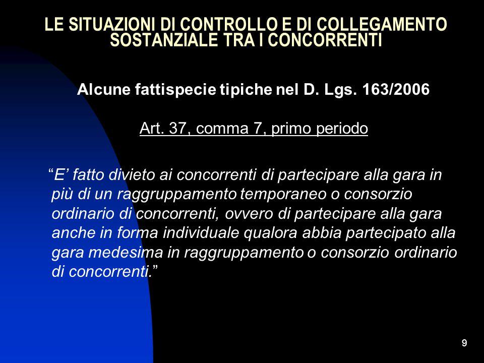 30 I REQUISITI DI ORDINE GENERALE NEL CODICE DEI CONTRATTI (art.