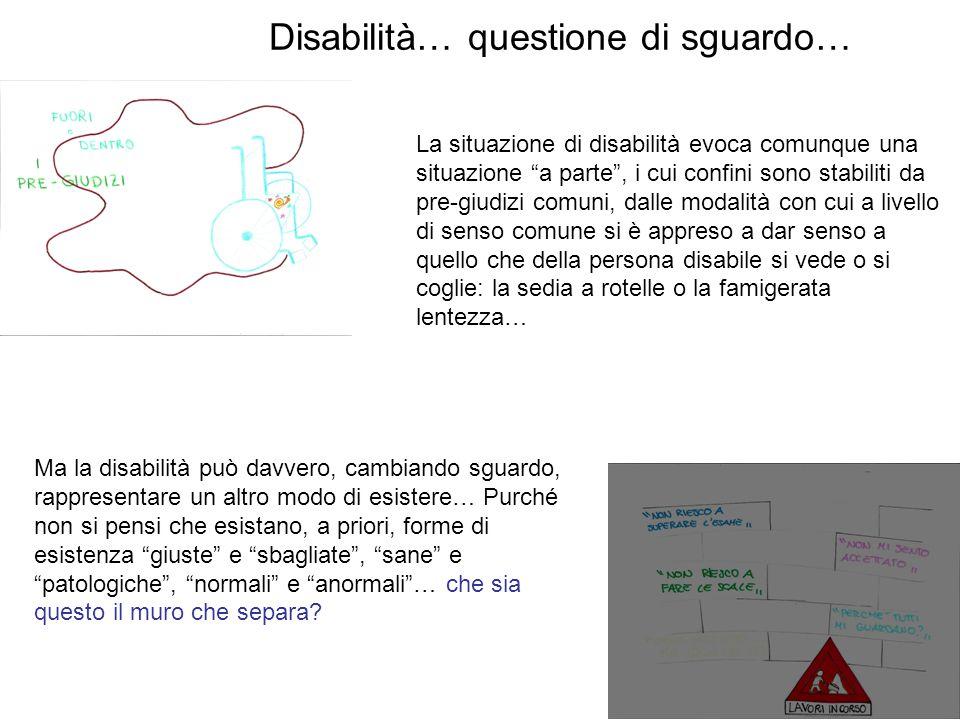 Disabilità… questione di sguardo… Mondo altro, mondo a parte: cosa ci restituisce del nostro mondo.