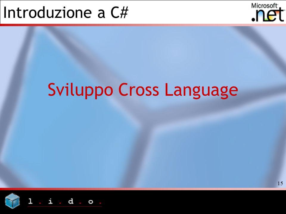 Introduzione a C# 15 Sviluppo Cross Language