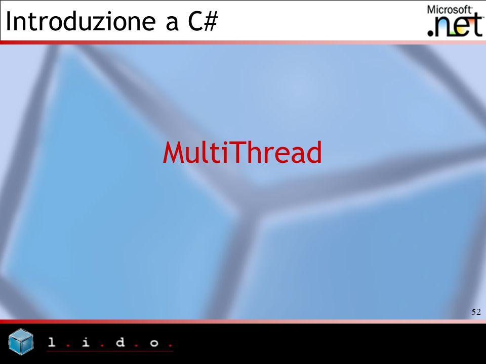 Introduzione a C# 52 MultiThread