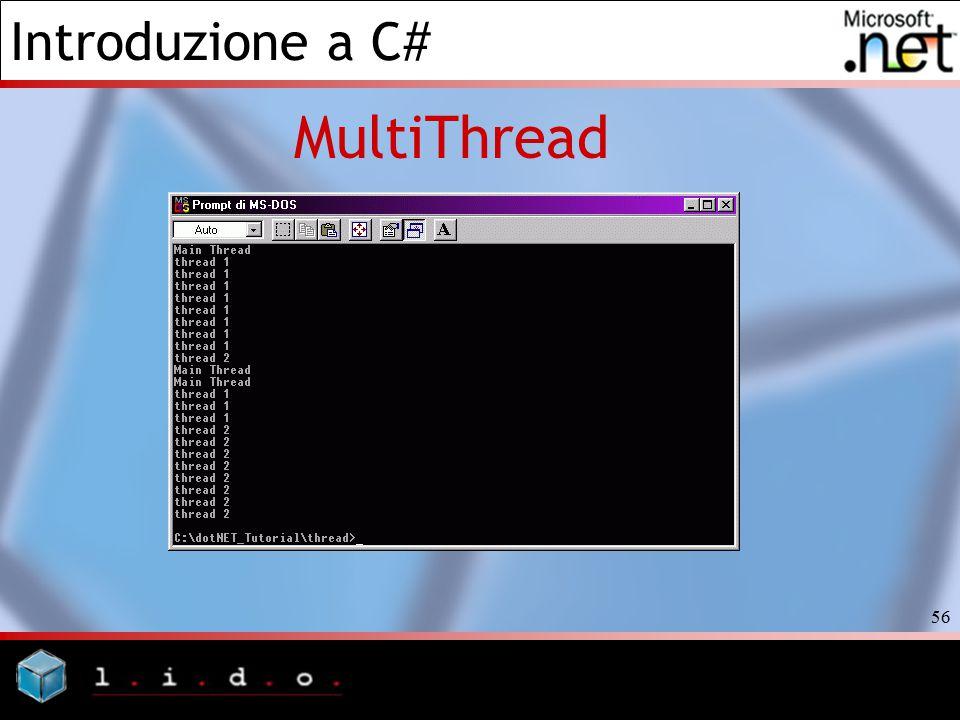 Introduzione a C# 56 MultiThread