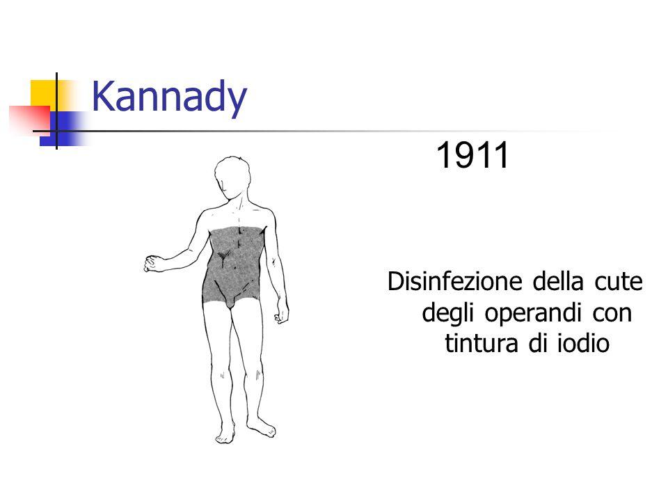 Kannady Disinfezione della cute degli operandi con tintura di iodio 1911