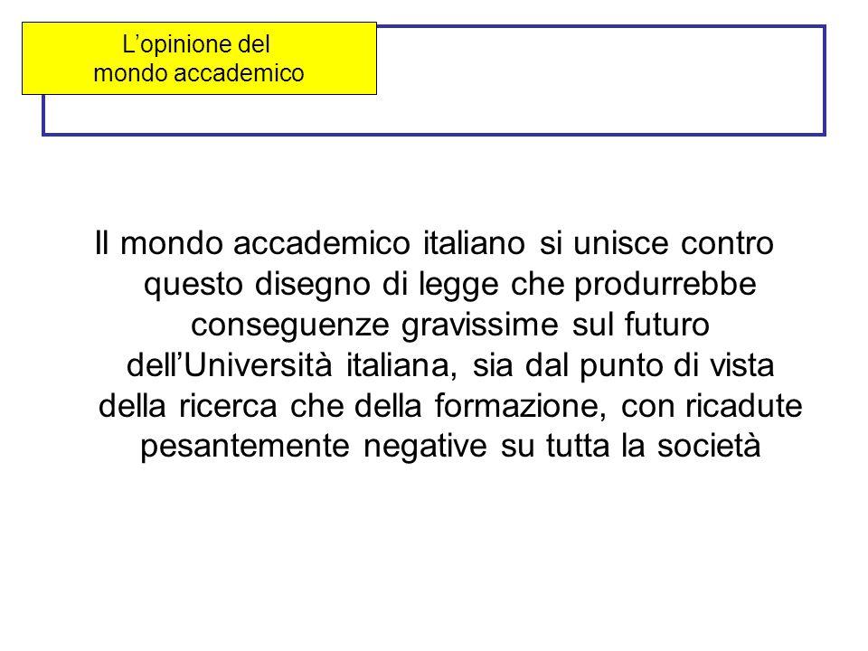 proteste Il mondo accademico italiano si unisce contro questo disegno di legge che produrrebbe conseguenze gravissime sul futuro dell'Università italiana, sia dal punto di vista della ricerca che della formazione, con ricadute pesantemente negative su tutta la società L'opinione del mondo accademico