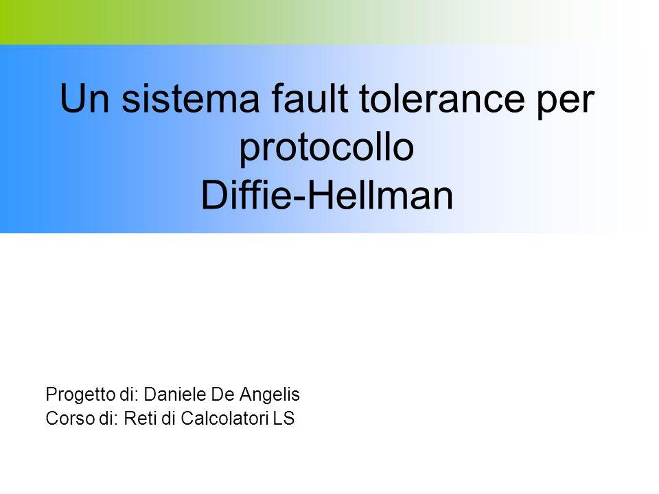Progetto di: Daniele De Angelis Corso di: Reti di Calcolatori LS Un sistema fault tolerance per protocollo Diffie-Hellman