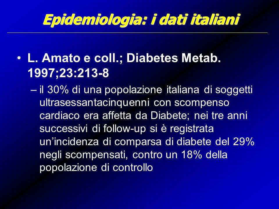 Epidemiologia: i dati italiani L.Amato e coll.; Diabetes Metab.