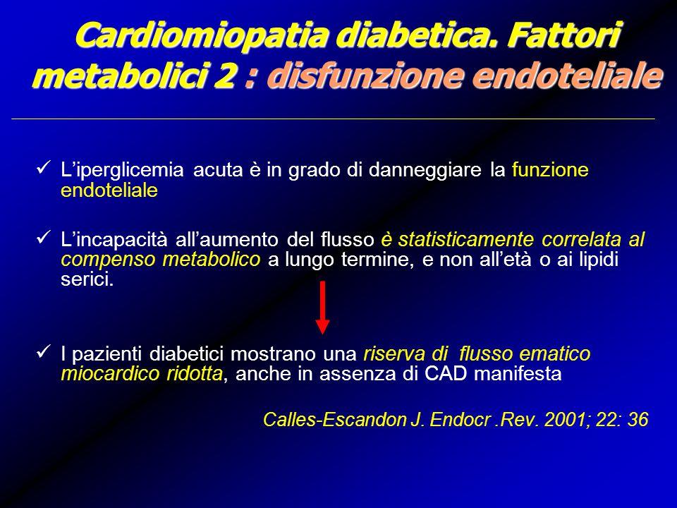 Cardiomiopatia diabetica.