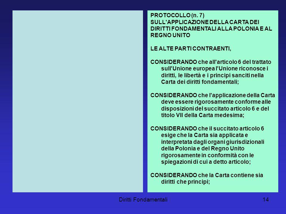 Diritti Fondamentali14 PROTOCOLLO (n.