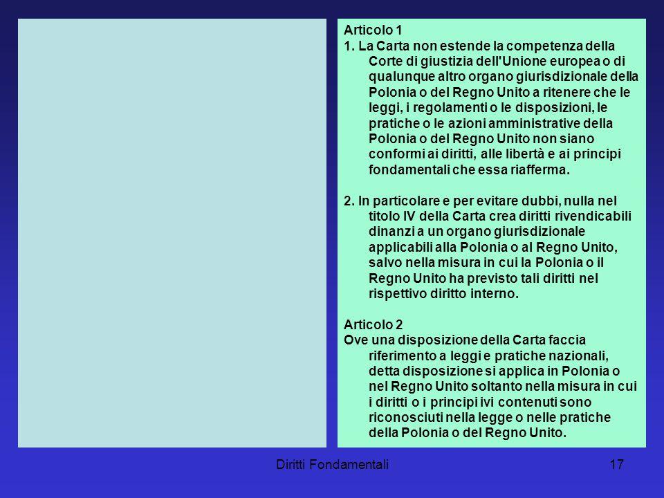 Diritti Fondamentali17 Articolo 1 1.