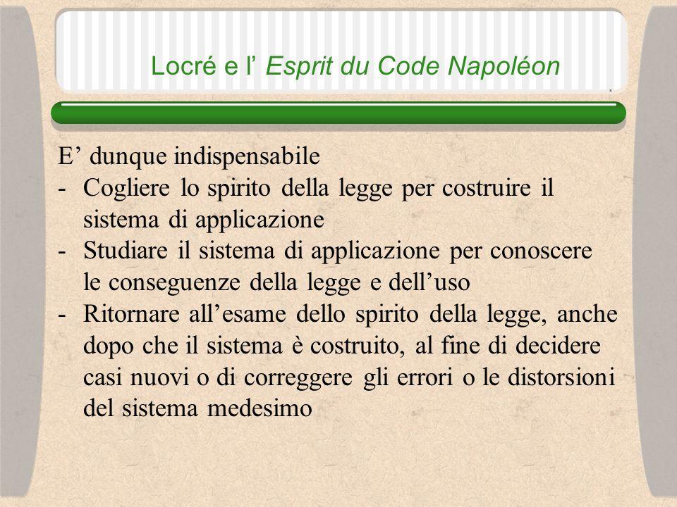 Locré e l' Esprit du Code Napoléon L'art.