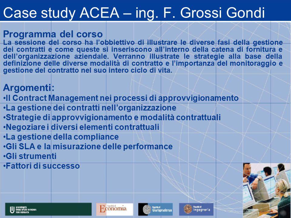 Case study ACEA – ing. F.