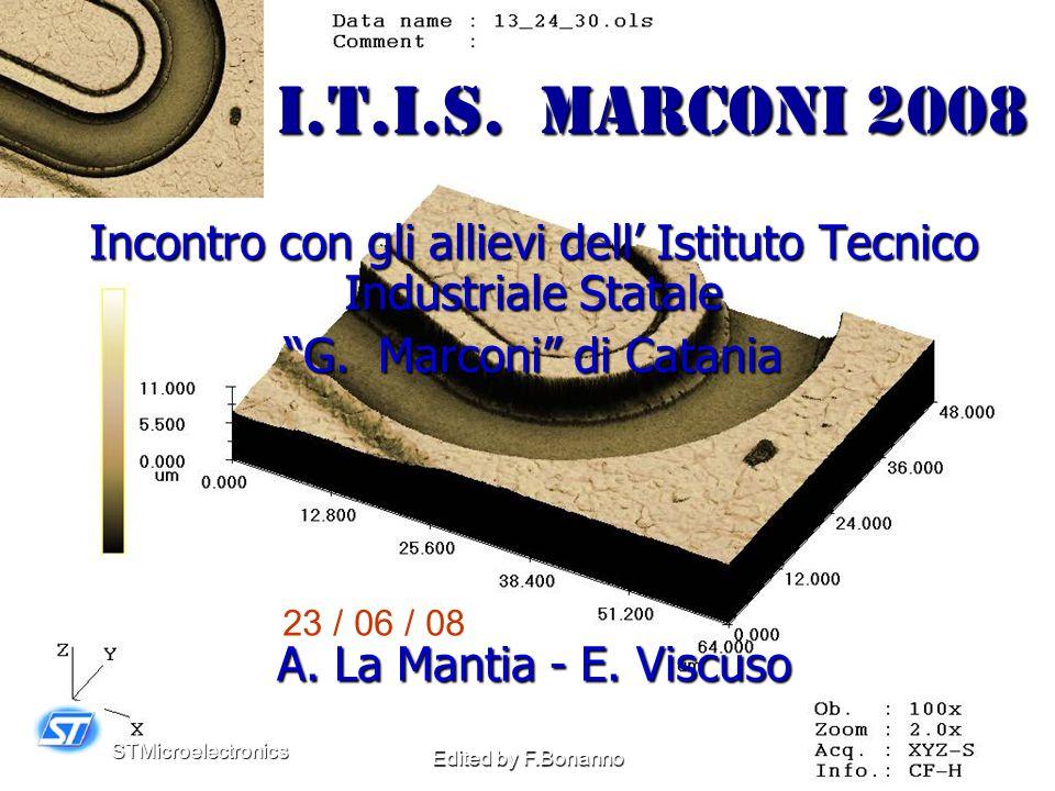STMicroelectronics Edited by F.Bonanno I.T.I.S.