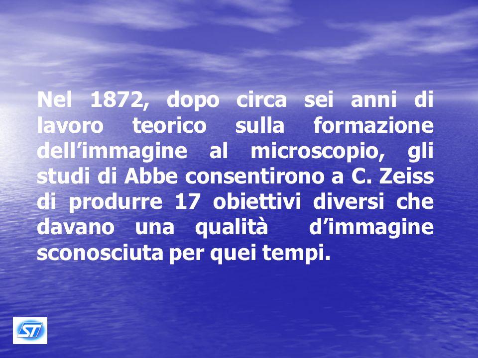 Nel 1866, Carl Zeiss conobbe un geniale matematico e fisico ventiseienne, il Dott.