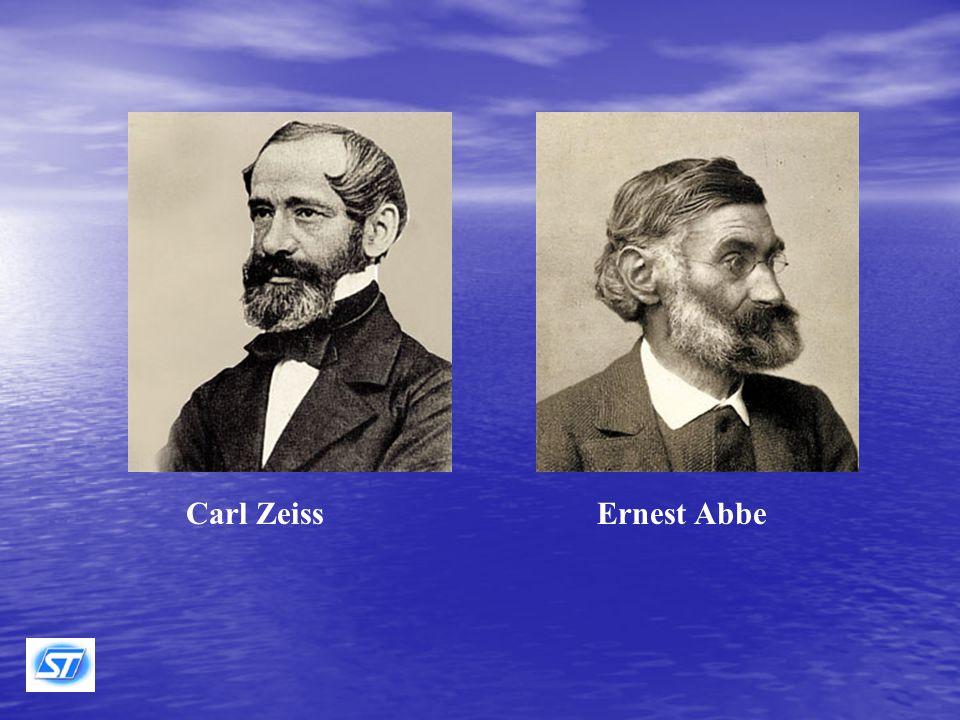 Nel 1872, dopo circa sei anni di lavoro teorico sulla formazione dell'immagine al microscopio, gli studi di Abbe consentirono a C.