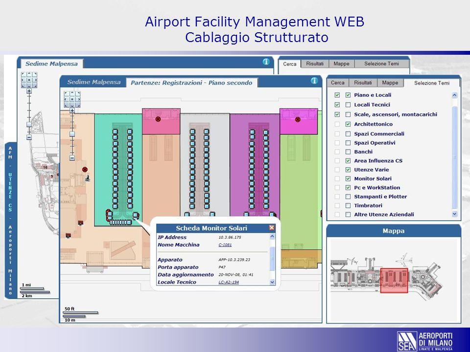Airport Facility Management WEB Cablaggio Strutturato