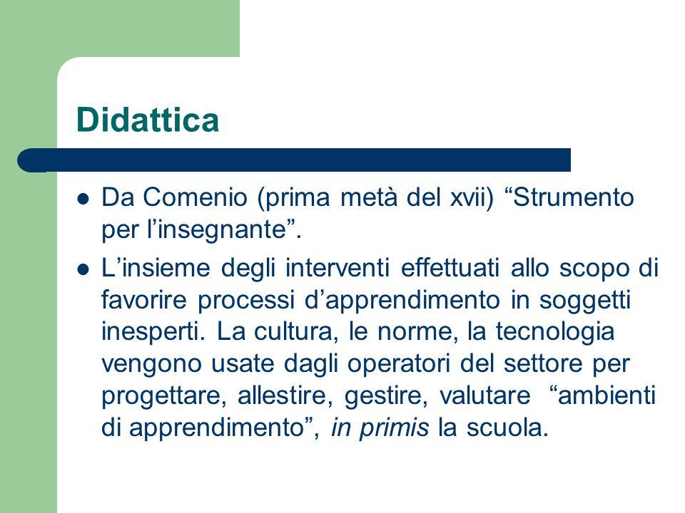 Didattica Da Comenio (prima metà del xvii) Strumento per l'insegnante .