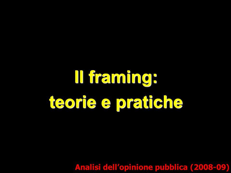 Il framing: teorie e pratiche Analisi dell'opinione pubblica (2008-09)