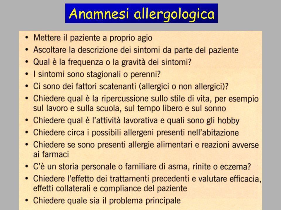 Anamnesi allergologica