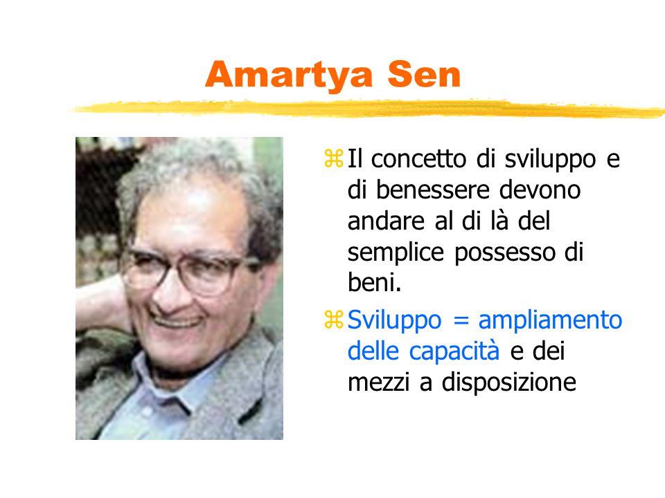 Amartya Sen z Il concetto di sviluppo e di benessere devono andare al di là del semplice possesso di beni.